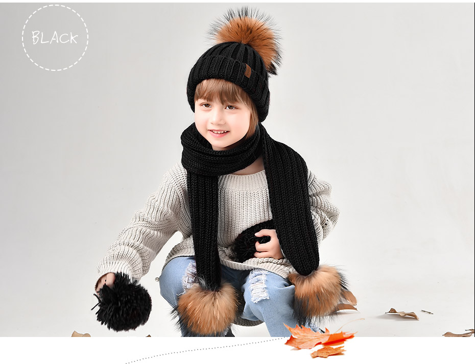 5fa5a97284ab2 FURTALK Kids Ages 2 10 Winter Warm Chunky Thick Knit Beanie Hats And ...