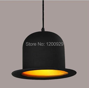 Novelty Lamps Design 220V 110V E27 Jeeves Wooster Fashion Bowler Hat Chandelier Round Aluminum Hat Residential Lighting PLL-102 image