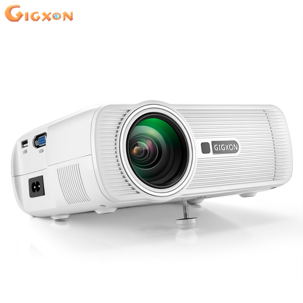 Gigxon G80 mini LED projector 800 480 support full HD 1080P 1000 lumens portable projector for