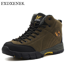 FXDXENEK Brand New 2017 Men Boots for Men Winter Snow Boots High Quality Keep Warm Fur&Plush Lace Up High Top Fashion Men Shoes