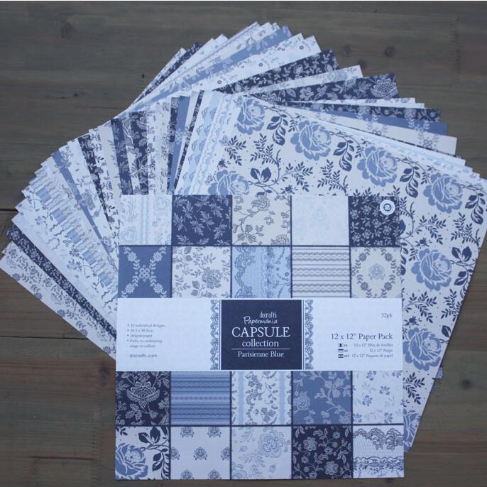 DIY Album Photo Scrapbooking Paper Set   Crafts Art Card  Flowers 12x 12  Single Side Printed 30sheets/pack