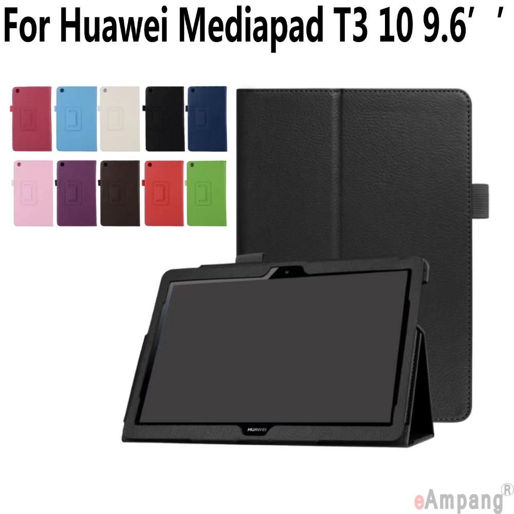 Case for Huawei Mediapad T3 10 9.6 inch Kickstand Ultra Thin Smart Wake Up Cover for Huawei Mediapad T3 10 with Pen Holder new slim cover transparent pc back case for huawei mediapad t3 7 3g bg2 u01 tablet case t3 3g 7 0 screen protection stylus