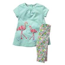 Summer Girl Animal Dress Legging Outfit Set