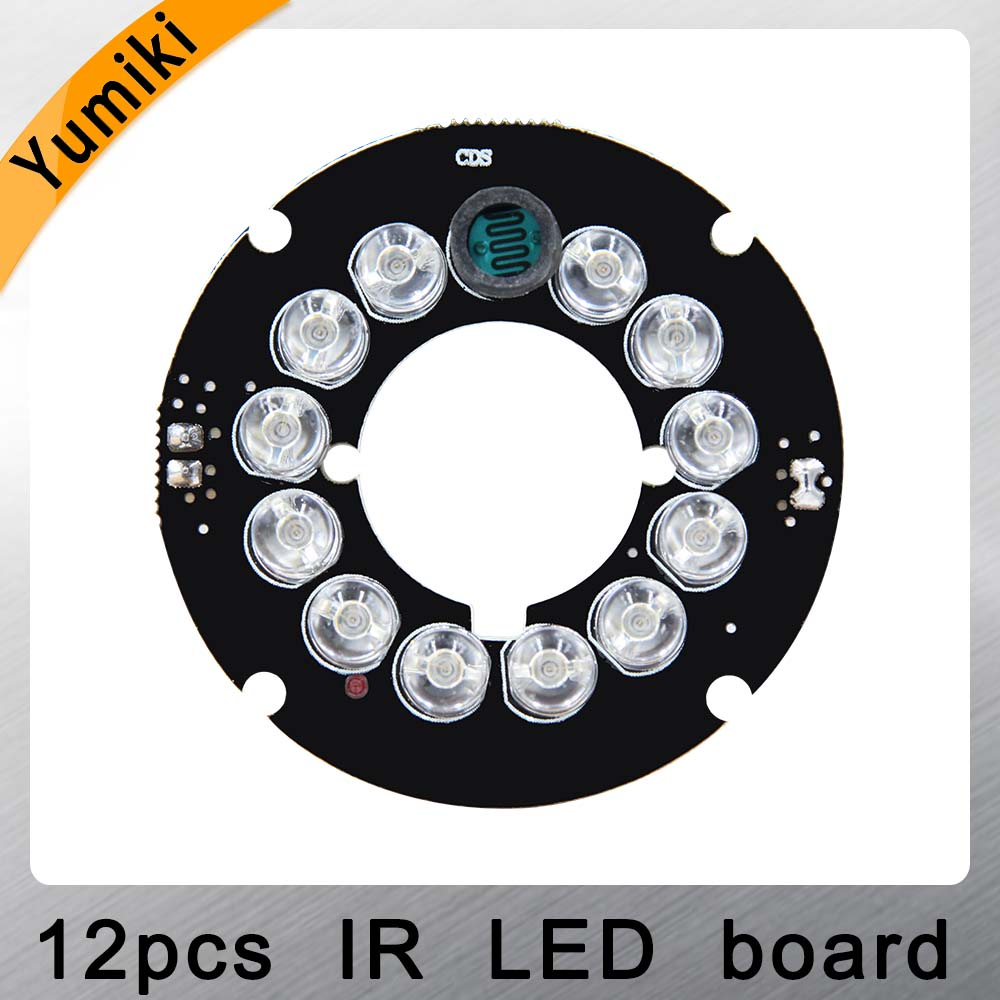 Yumiki Infrared 12 X 5 IR LED Board For CCTV Cameras Mini Camera Night Vision (diameter 42mm)