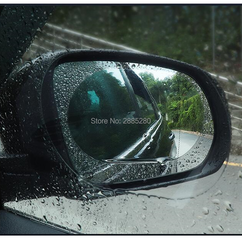 Car rearview mirror rain and anti-fog film for skoda mazda 6 bmw f10 volvo ford focus 3 citroen c4 volkswagen polo peugeot <font><b>207</b></font> image