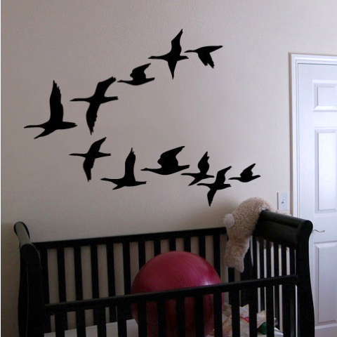 wall decal family art bedroom decor jjrui flying bird flock wall decor living room tree bird decal family art wall decals