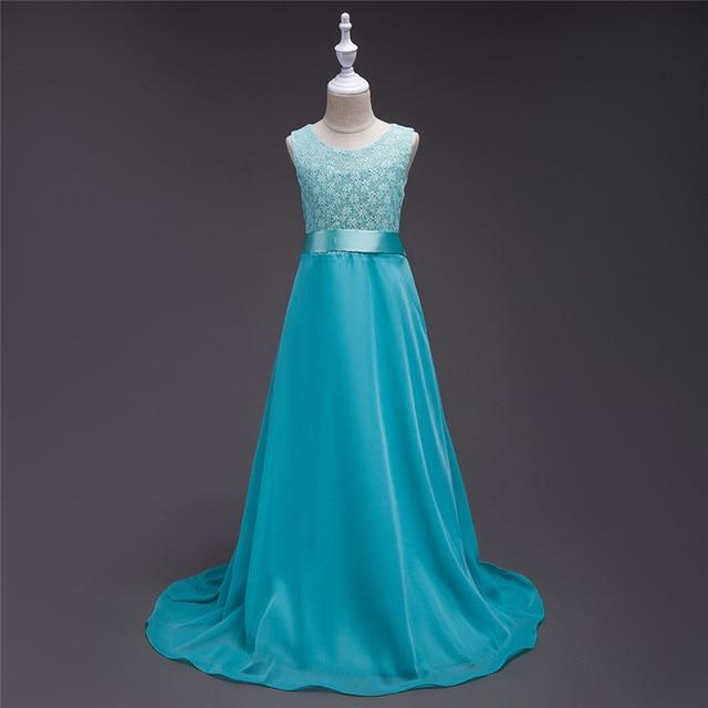 2c82733d1786f Européenne et américaine Style5-15 ans fille derss longue robe de soirée  robe pour enfants