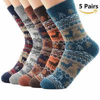 Hohe Qualität 5 Pairs Männer Frauen Warme Winter Socken Weiche Kaschmir Warme Socken Kaninchen Wolle Socken Winter Thermische Socken Wolle atmungsaktiv
