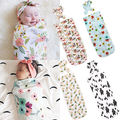 Sleeping Bags Soft Muslin Newborn Baby Blanket Bedding Blanket Floral Pattern Print Wrap Swaddle Blanket Bath Towel