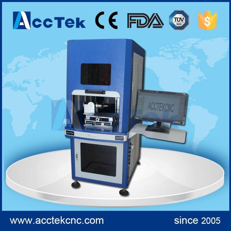 Electronic auto focus CE FDA standard 3d fiber laser metal engraving machine for sale