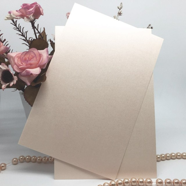 20Pcs/set Delicate Invitation Card Inner Sheet Inside Pages for Wedding Party Celebration Birthday Supplies White/Beige/Pink
