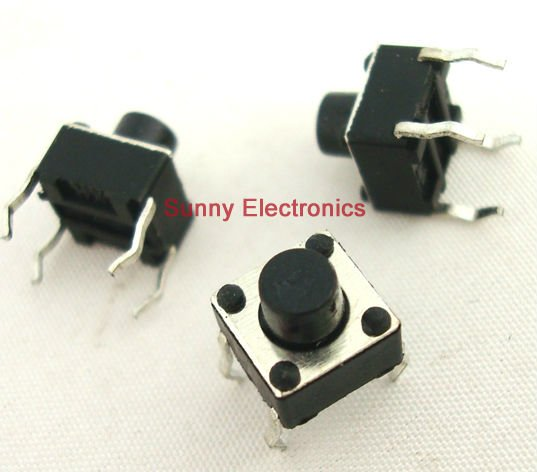 50x Tactile Push Button Switch Momentary Tact 6x6x6mm 4-pin DIP Through-Hole casio mtd 1078d 1a1