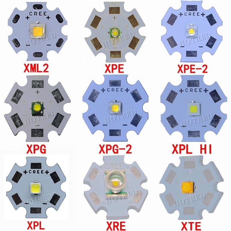 1pcs CREE XPG2 XML2 XM-L T6 XBD XM-L2 / XP-E R3 / XR-E Q5 / XP-G2 R5 / XT-E R5  LED Flashlight Light Bulb Chip With 20mm Base