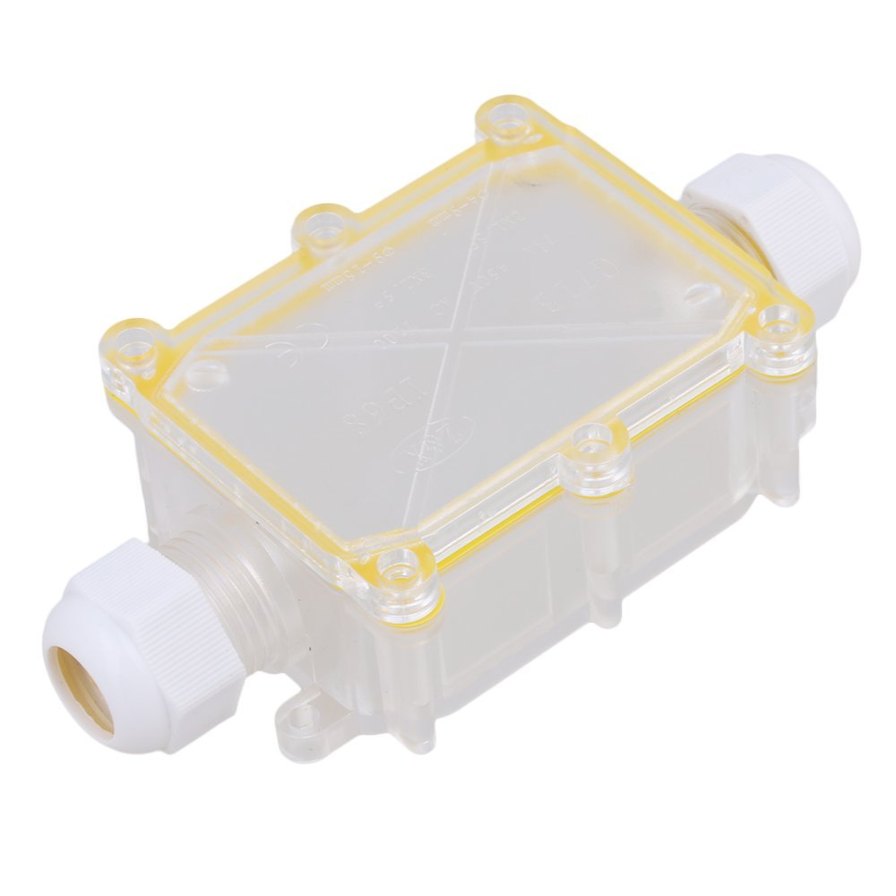 Hot Item Transparent 2 Way Outdoor Cable Wire Connectors Junction Box Wiring Ip68 Waterproof Sunproof With Terminal
