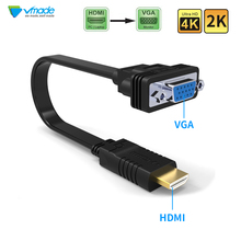 цена на Vmade HDMI to VGA Adapter Cable HDMI to VGA Converter Adapter Support 1080p  4K Video Audio cable Male-Female Adapter Converter