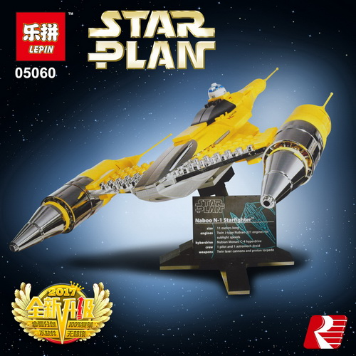 LEPIN 05060 Star Series Wars UCS naboo star type fighter aircraft Model Building Blocks Bricks Compatible legoed 10026 Toy Gifts