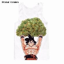 2017 New Summer Men/women's 3D tank top print Dragon Ball Z Anime sleeveless tee shirt vest summer tops  size S-5XL