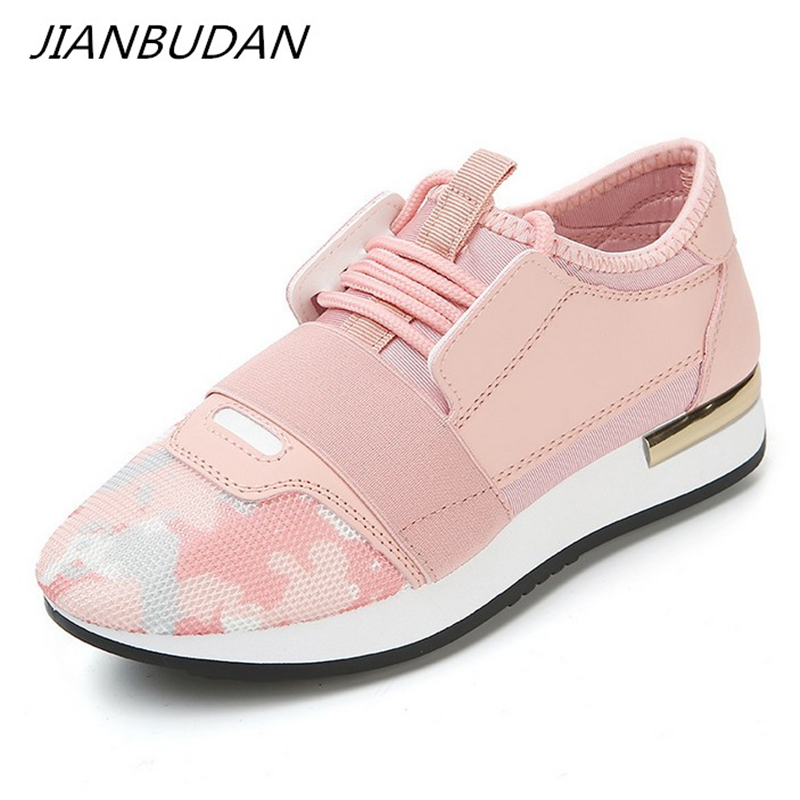 JIANBUDAN/ Women Sneakers New 2019 Spring Fashion Pu Leather Platform shoes  Ladies Walking Breathable Casual Shoes