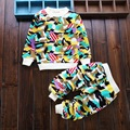 New spring baby boys girls clothing sets Chinese style full sleeve pants suits for 0-2 year infant children clothes
