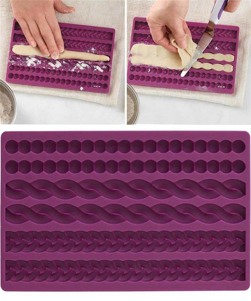 3D жемчужная вязаная веревка, силиконовая форма для помадки, украшение для торта, формы для мастики, кухня, «сделай сам», украшения для выпечк...