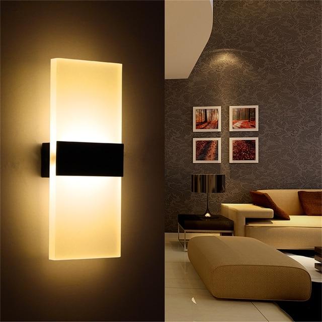 Applique 6 W mur Led lampe 3 W 8 W chambre à coucher Led chevet ...