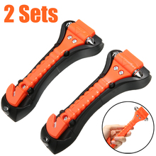 2pcs 2 in 1 Car Safety Hammer Outdoor Life Saving Escape Emergency Hammer Seat Belt Cutter Window Glass Breaker Car Rescue Tool 100pcs brand new elysaid emergency safety seat belt cutter auto escape knife stainless steel blade life saving equipment