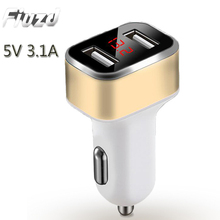 Fiuzd smart display car charger for Iphone X 8 6 6S 5S Universal Travel Charger HuaweiMAX P20 P10 Pro lite Phone