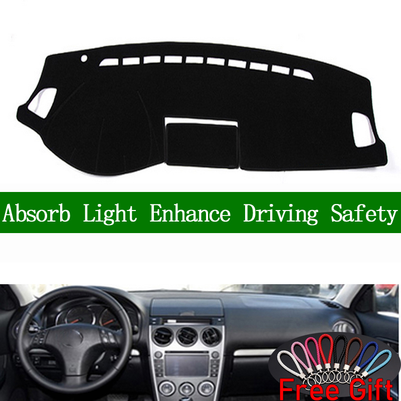 For <font><b>mazda</b></font> <font><b>6</b></font> 2004 2005 2006 2007-2016 Dashboard Cover Sun Shade Non-slip Dash Mat Pad Carpet Car <font><b>Stickers</b></font> Interior Accessories image