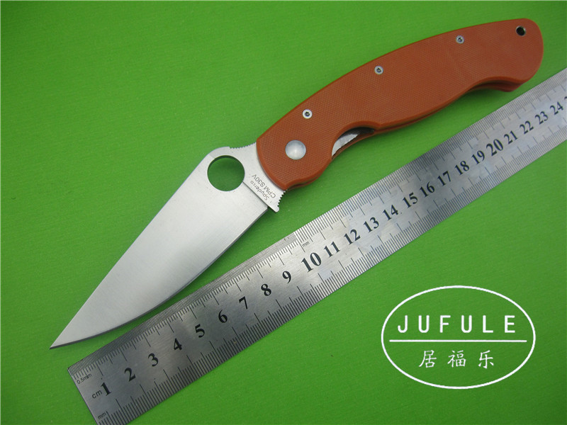 JUFULE Spider OEM military C36 Folding font b Knife b font G10 Handle S30V steel Camping