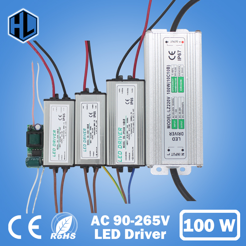 1pce 10-100W Wateerproof LED Light Driver AC 85-265V DC25-38V Transformer Power Supply Adapter for Led Lamp/Floodlight /Strip power supply module driver for led ac 85 265v page 4 page 5
