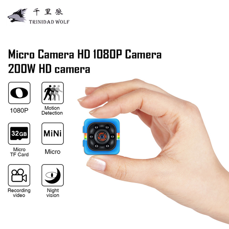 SQ11 Mini Camera HD 1080P Camcorder 12MP Night Vision Camcorder Video Recorder Aerial Sports Mini DV Cam Support TF Card slot