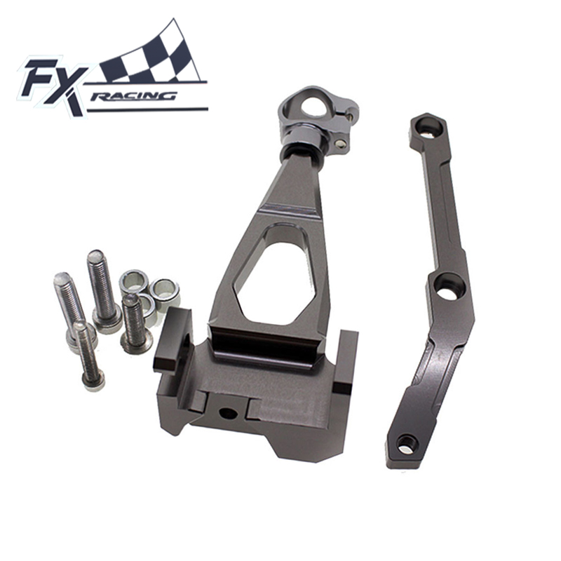 FXCNC Aluminum Motorcycle Steering Stabilizer Damper Bracket Mounting Kit For Yamaha MT09 MT-09 2013 2014 2015 Moto Accessories new black motorcycle steering damper stabilizer with mounting bracket kit for yamaha mt09 mt 09 fz 09 2014 2015 2016