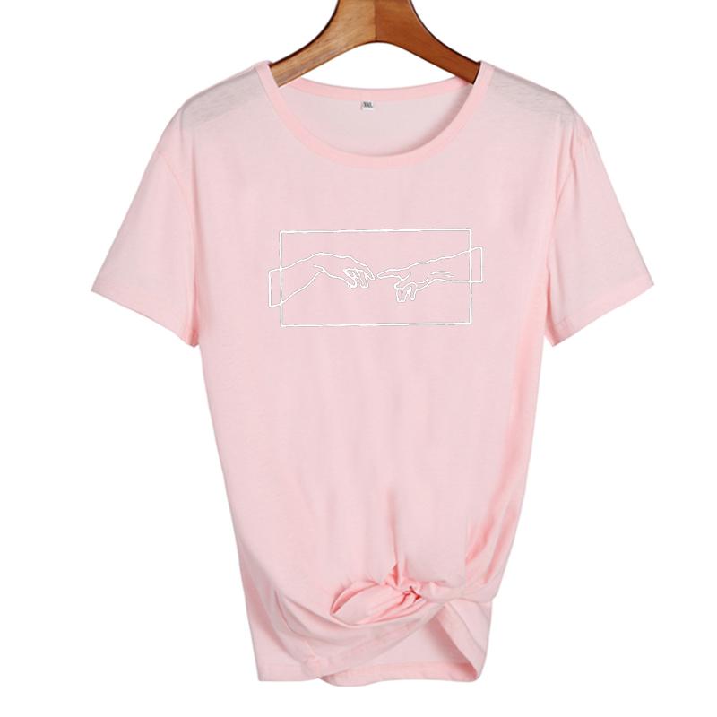 Women Clothes 19 New Harajuku Fashion Printed Tshirt Aesthetic Art Tumblr T Shirt Black White Graphic T Shirts Tee Shirt Femme 7