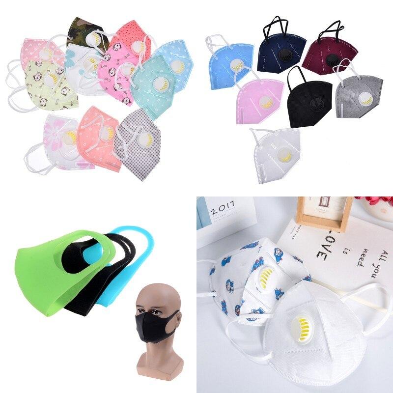 Damen-accessoires Masken Unisex Pm2.5 Gesicht Mund Maske Staubdicht Floral Print Atemschutz Vlies Stoff