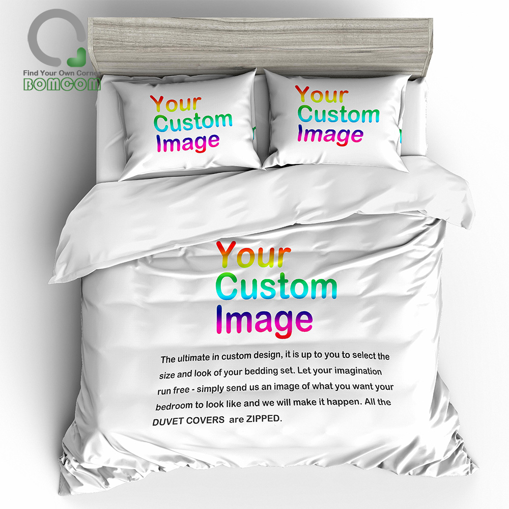 BOMCOM 3D Digital Printing Custom Bedding Set. Submit Any Artwork, Design, Picture(China)