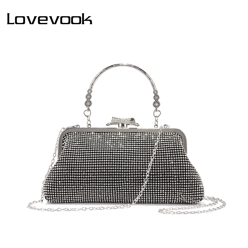 LOVEVOOK fashion women bag female evening clutch ladies shoulder crossbody bag for party purse wallets small handbag 2017 fashion lady with glasses white acrylic women metal box clutches evening party totes handbag purse casual shoulder crossbody bag