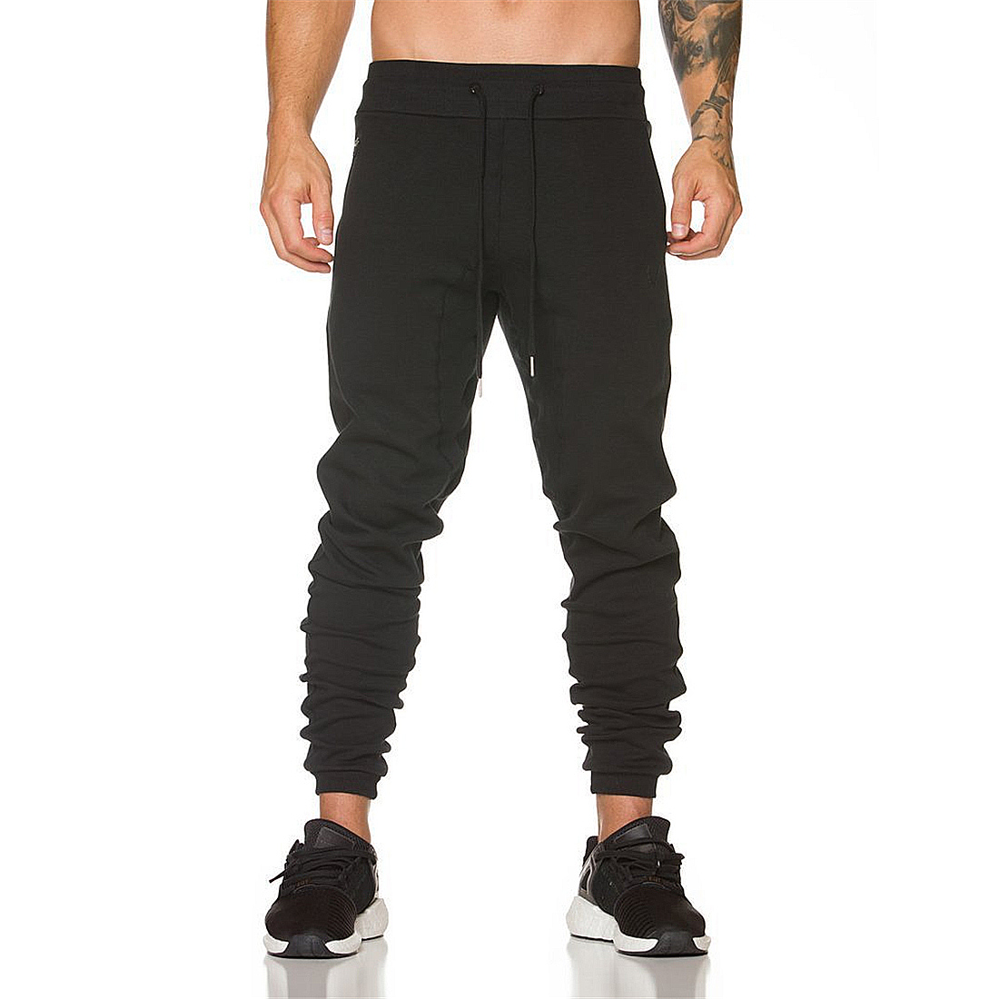 New Mens Harem Pants Casual Street Workout Sweat Skinny Pants Dance Wear Pencil Tracksuit Sportswear Loose Plus Size Pants Home