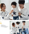 Spring Autumn family Clothing star mother/child clothes, daughter, son,father long-sleeve t-shirt sweatshirt with hooded S1835