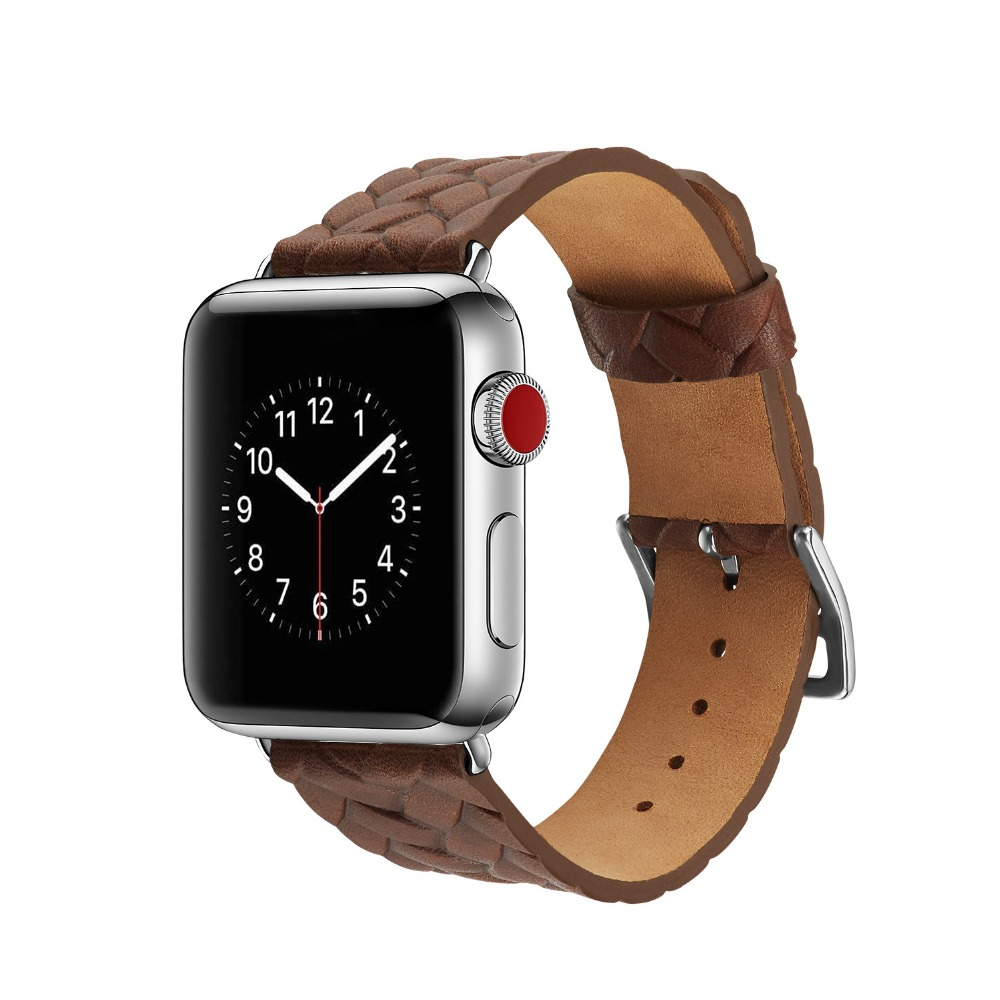 2018 New Fashion Analog Braids Style Band For Apple Watch 38mm 42mm Watchband For iwatch Series 1 2 3 Genuine Leather Bracelet