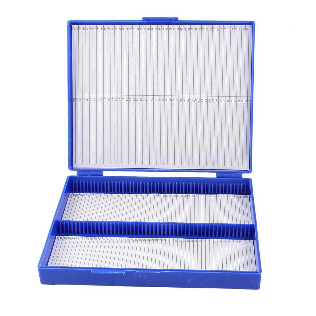 1 PCS Royal Blue Plastic Rectangle Hold Biological Specimen 100 Microslide Slide Microscope Box 20 x 16x 3cm Perfect for storage 18 kinds of common electrolytic capacitors set w storage box for pc green 180 pcs