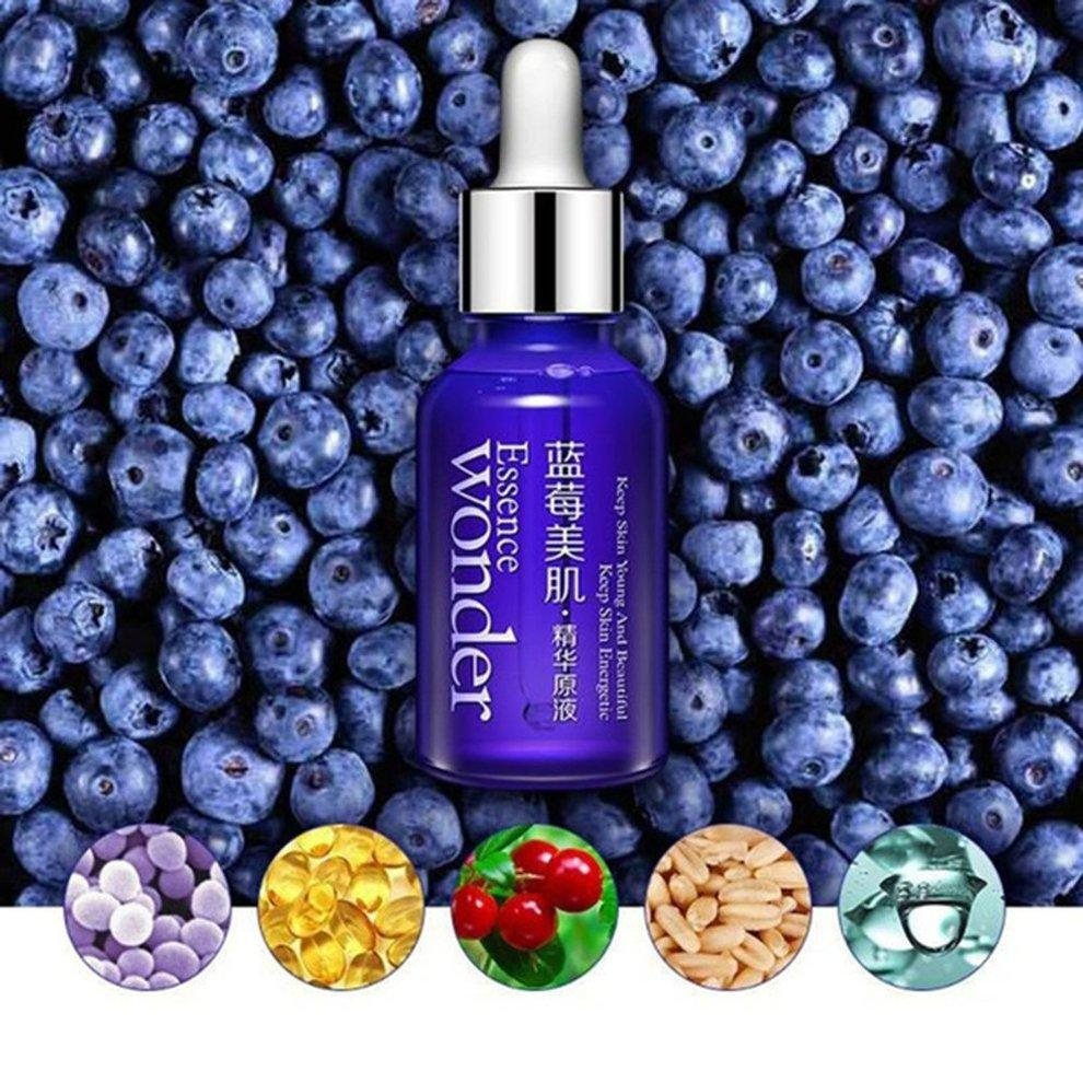 Moisturizing Repair Liquid Collagen Face Essence Serum Desalt Imprint Care Liquid Blueberry Plants Face Serum Water Skin Care