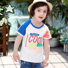 Fashion Print T Shirt Baby Boy Casual Cotton Kids T-shirt 2017 New Clothing Summer Clothes Children Short Sleeve Tees Infant Top