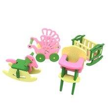 Детские деревянные кукольные домики, мебель, кукольный домик, миниатюрные детские игрушки, подарки#6