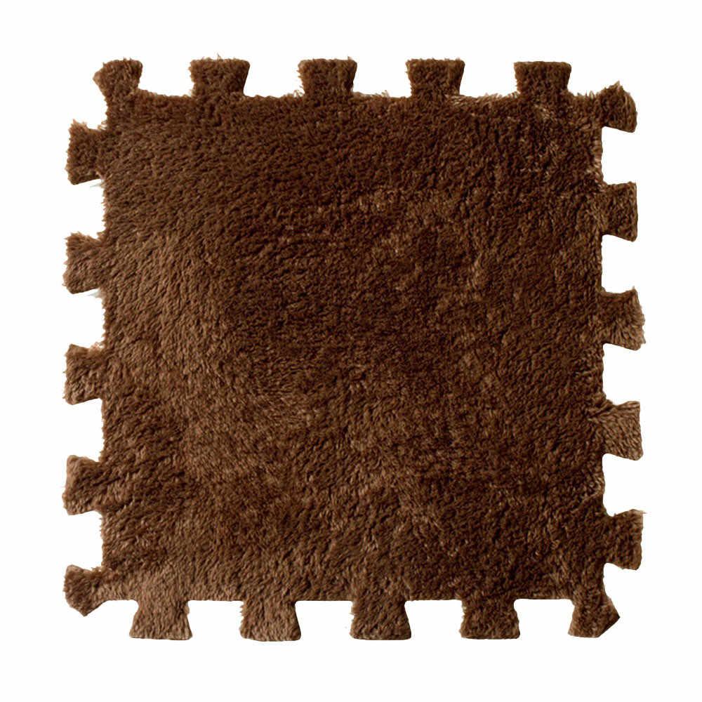 30*30 см, гостиная, спальня, Детский мягкий лоскутный ковер, соединяющийся, Детская мозаика, удобный фланелевый коврик, tapetes para casa sala #40505