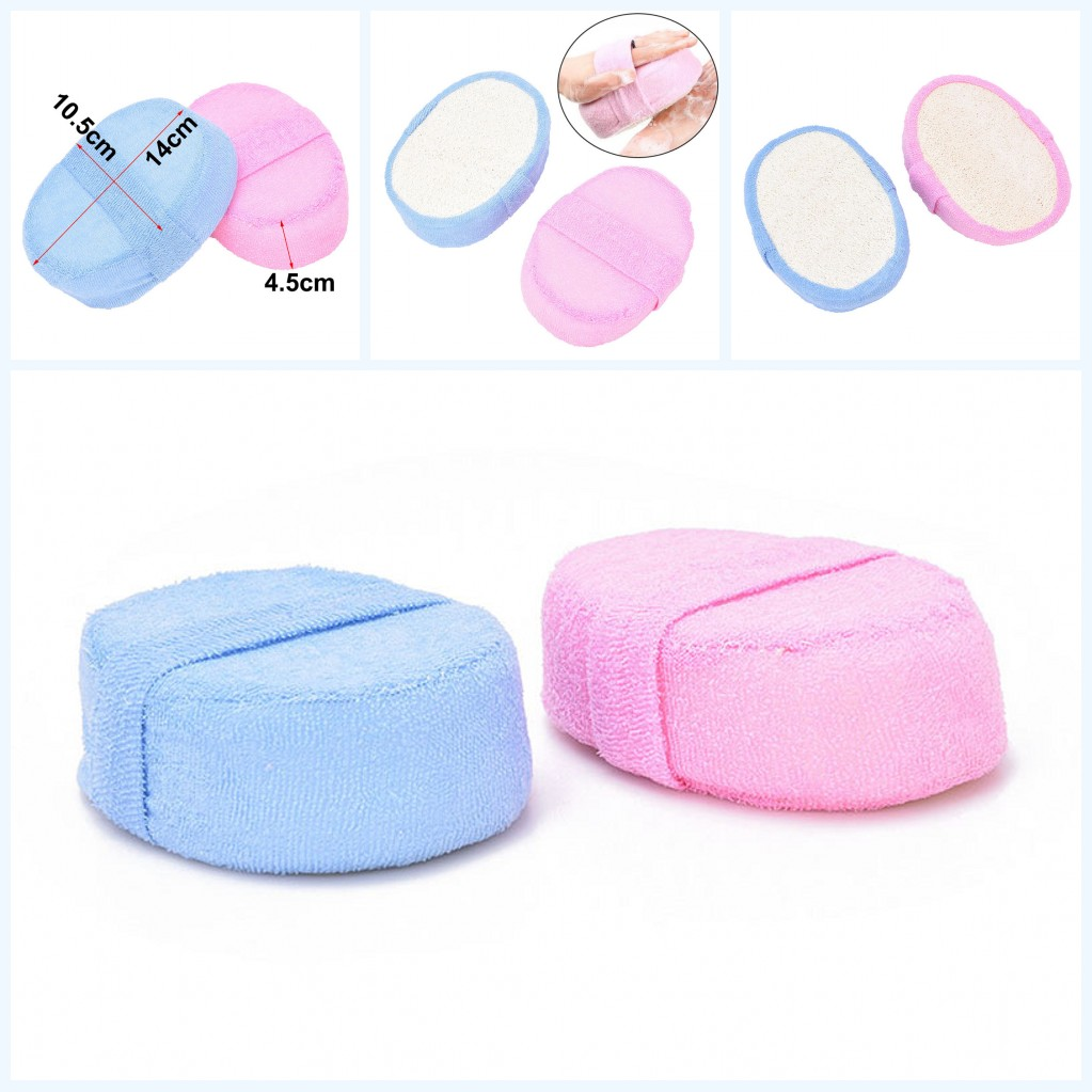 1PC Pink Blue Loofah Sponge Bath Ball Shower Rub For Body Health Massage Brush Wash Clean Tool For Men Women