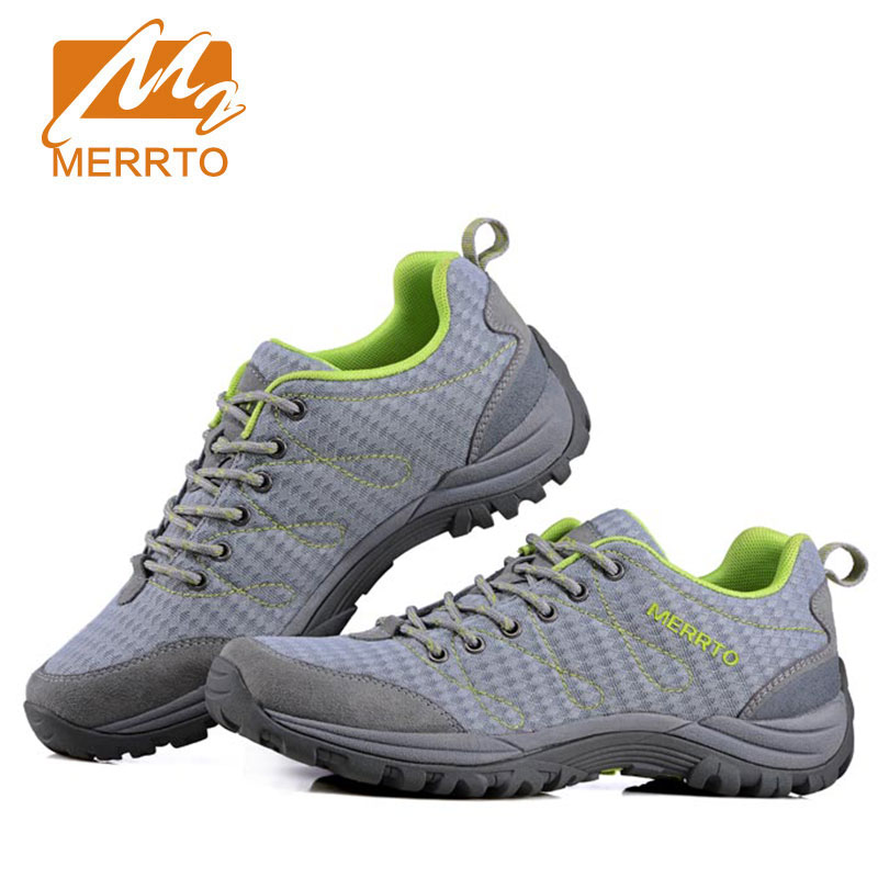 MERRTO Men's Outdoor Hiking Climbing Shoes anti-skid Breathable Mesh damping Tactical Boots light-weight wear resistant Sneaker merrto men s waterproof outdoor shoes mountain breathable genuine leather hiking shoes anti skid cowhide damping walking shoes