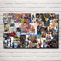 Kingdom Hearts Video Games Art Silk Fabric Poster Prints Home Wall Decor Printing 12x19 15x24 19x30 22x35 Inches Free Shipping