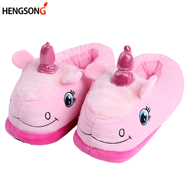 New Winter Indoor Slippers Plush Home Shoes Unicorn Slippers for Grown Ups Unisex Warm Home Slippers Shoes 4 Types OR986740 men winter soft slippers plush male home shoes indoor man warm slippers shoes