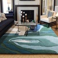 Сезон скамьи терраса утолщаются овечья шерсть, большие размеры 80% шерсть art гостиной ковер прикроватный коврик Домашний Декоративный Ковер