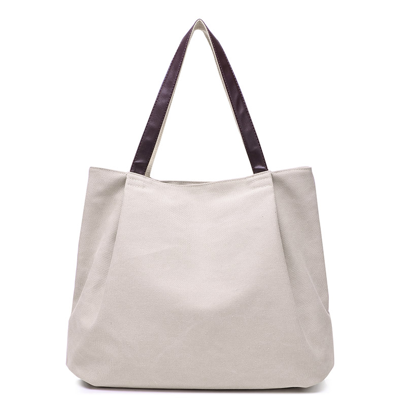 Bolsa de asas de lona de moda bolso de las mujeres bolsas de hombro - Bolsos - foto 4